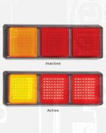LED Autolamps 125BARRM Stop/Tail/Indicator Triple Combination Lamp (Blister)