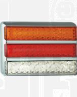 LED Autolamps 200CARWM Stop/Tail/Indicator/Reverse Triple Combination Lamp - Chrome (Blister)