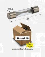 Narva 52301 Glass Fuse 3AG - 1Amp (Box of 50)