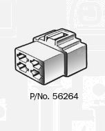 Narva 4 Way Quick Connector Housing with Terminals - Female (Pack of 10)