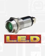Narva 62091BL 12 Volt Chrome Pilot Lamp with Green L.E.D