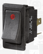Narva 63048BL Illuminated Off/On Heavy-Duty Rocker Switch (Red)