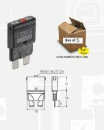 Narva 55725 Blade Manual Reset Circuit Breaker - 25 Amp (Box of 5)