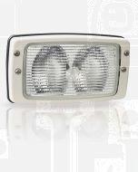 Hella Marine 1GB998542-001 Halogen 8542 Series Flush Mount Floodlight - 12V White, Structured Lens