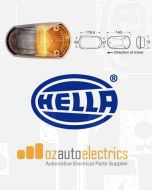 Hella 2155CLR Cat 6 Supplementary Side Direction Indicator - Amber Illuminated