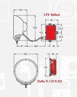 Hella Ballast 9.1319.03 12V DC to Suit Hella Predator Series Driving Lamps