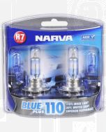 Narva 48535BL2 Halogen H7 Globe 12V 55W Blue Plus 110 PX26d (Blister Pack of 2)
