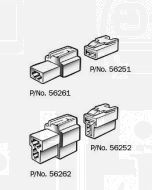 Narva 56251 1 Way Quick Connector Housing with Terminals - Male (Pack of 10)