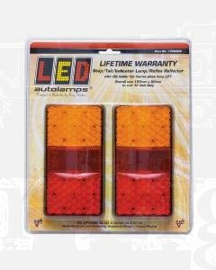 LED Autolamps 150BAR2 Stop/Tail/Indicator & Reflector Combination Lamp (Twin Blister)
