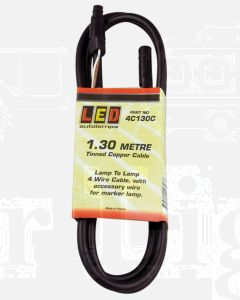 LED Autolamps 4C130C 1.3 Meter Trailer Plugin Cable - Lamp to Lamp Cable