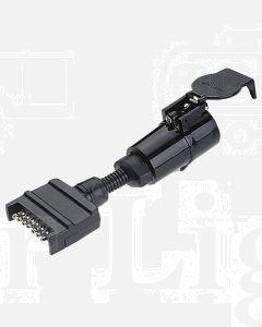 Narva 82250BL 7 Pin Flat Socket on Car to 5 Pin Large Round Plug on Trailer