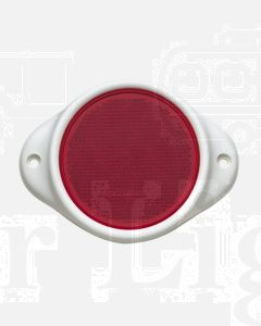 Narva 84082/50 Red Retro Reflector 80mm dia. in Plastic Holder with Dual Fixing Holes (Bulk Pack of 50)