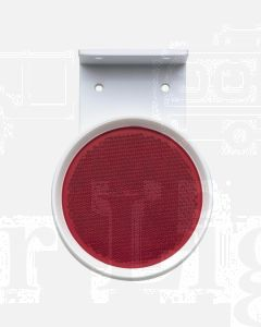 Red Retro Reflector 80mm dia. in Pendant Mount Holder with Dual Fixing Holes (1)