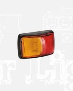 Narva 91402 10-33 Volt L.E.D Side Marker Lamp (Red / Amber) with Black Deflector Base and 0.5m Cable