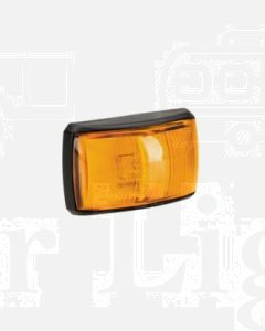 Narva 91443 10-33 Volt L.E.D Side Direction Indicator Lamp (Amber) with Black Deflector Base and 2.5m Cable