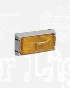 Narva 91506 24 Volt Sealed Side Direction Indicator or External Cabin Lamp Kit (Amber) with Grey Mounting Base