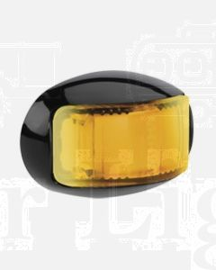 Narva 91645 9-33 Volt L.E.D Side Direction Indicator Lamp (Amber) with Oval Black Deflector Base and 0.5m Cable