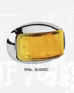 Narva 91645C 9-33 Volt L.E.D Side Direction Indicator Lamp (Amber) with Oval Chrome Deflector Base and 0.5m Cable