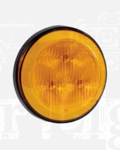 Narva 94300BL 9-33 Volt L.E.D Rear Direction Indicator Lamp (Amber) with 0.5m Hard-Wired Sheathed Cable and Black Base (Blister Pack)