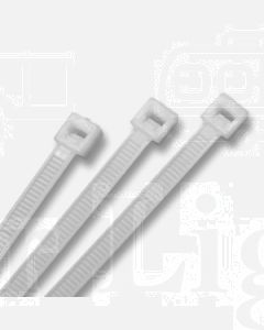 White Cable Ties (100) 4.8 x 370mm