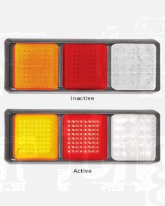 LED Autolamps 125BARWM Stop/Tail/Indicator/Reverse Triple Combination Lamp (Blister)