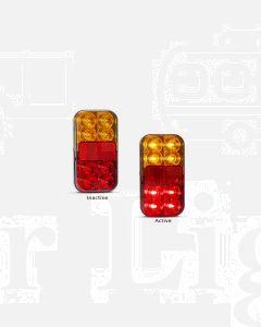 LED Autolamps 149BAR4P Stop/Tail/Indicator/Reflector Combination Lamp with 4 Pin Plug (Bulk Single)