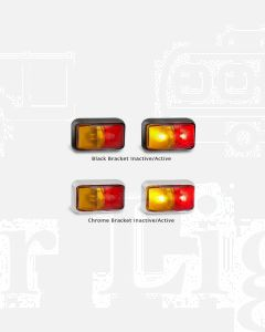 LED Autolamps 58AMB2P Red Amber Side Marker Lamp (Bulk Poly Bag with 2C Plugs)