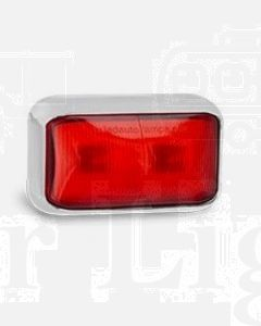 LED Autolamps 58CRM Rear End Outline Marker Lamp with Chrome Bracket (Blister Single)