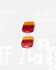 LED Autolamps 99ARLM Stop/Tail/Ind/Reflector/Licence Combination Lamp - Multivolt (Bulk Boxed)