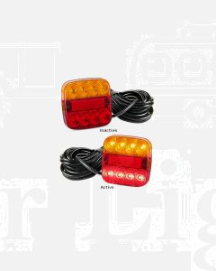 LED Autolamps 99ARM10 Stop/Tail/Ind/Reflector Combination Lamp with 10m Cable - Multivolt (Bulk Poly Bag)
