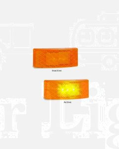 LED Autolamps EU38AM Side Marker Lamp (Blister Single)