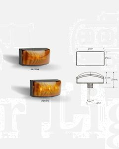 LED Autolamps 5025AM2 LED Side Marker Lamps