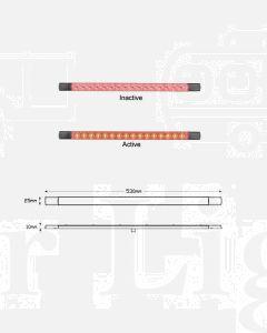 LED Autolamps 530R12 LED Stop Tail Lamp 530mm 12V
