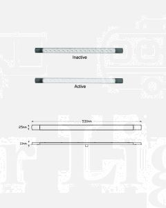 LED Autolamps 530W12 LED Reverse Lamp 530mm 12V