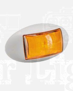 Narva 91424WBL 10-33 Volt L.E.D Side Marker, External Cabin or Front End Outline Marker Lamp (Amber) with Oval White Deflector Base and 0.5m Cable (Blister Pack)