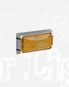 Narva 91512 12 Volt Sealed Side Direction Indicator or External Cabin Lamp Kit (Amber) with Chrome Mounting Base