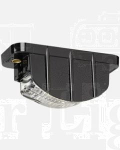 Narva 91682 9-33 Volt 5 L.E.D Licence Plate Lamp in Low Profile Black Housing and 0.5m Cable