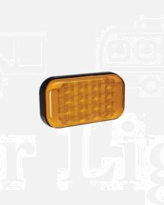 Narva 9-33 Volt L.E.D Rear Direction Indicator Lamp (Amber) with 0.5m of Hard-Wired Cable and Black Base - Bulk Pack of 4 (94144/4)